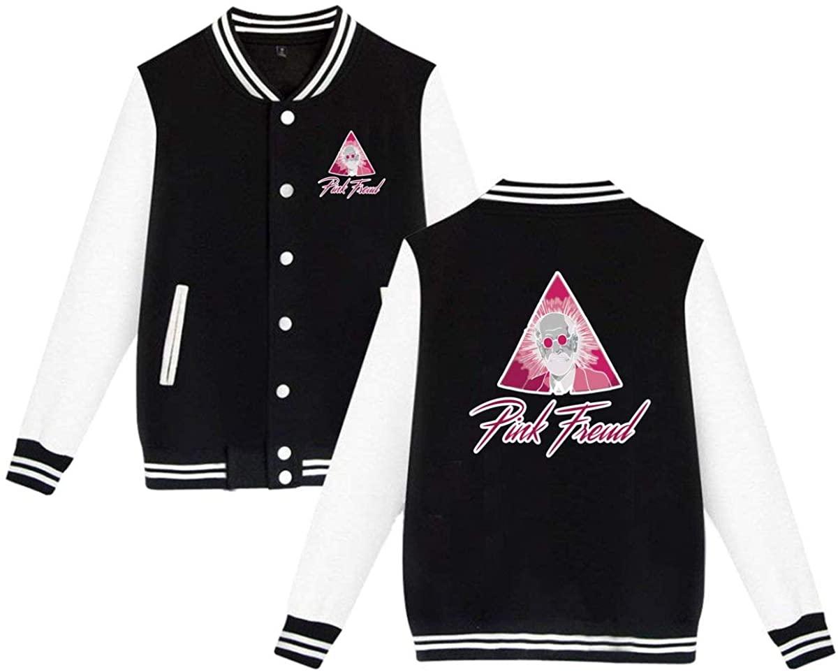 Nanobibi Pink Freud Unisex Baseball Jacket Varsity Jacket