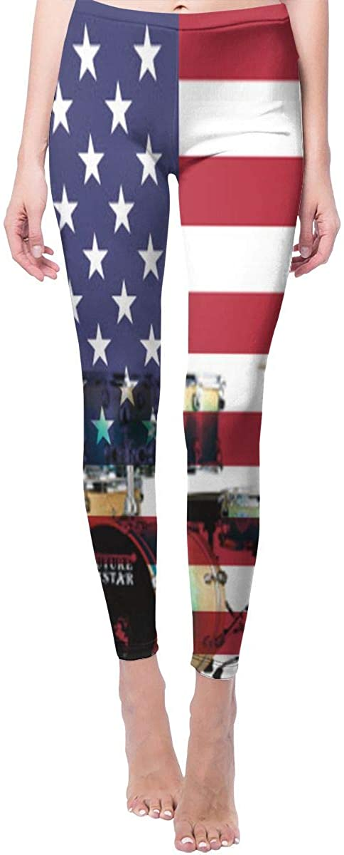 Game Life Leggings with USA Flag Drum Set Yoga Pants Trousers Sweatpants