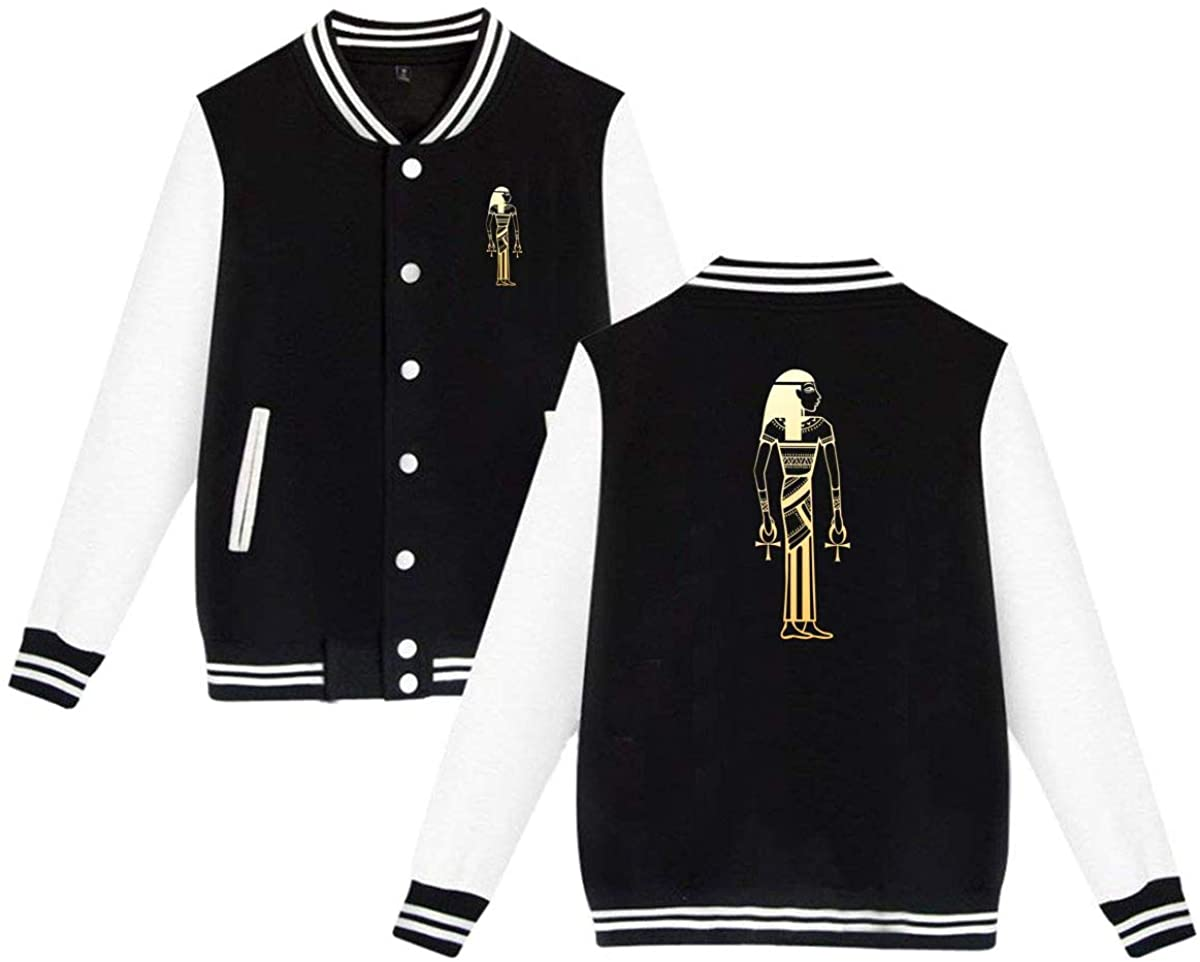 MOCSTONE Unisex Varsity Jacket Hathor Baseball Letterman Jackets Sport Coats