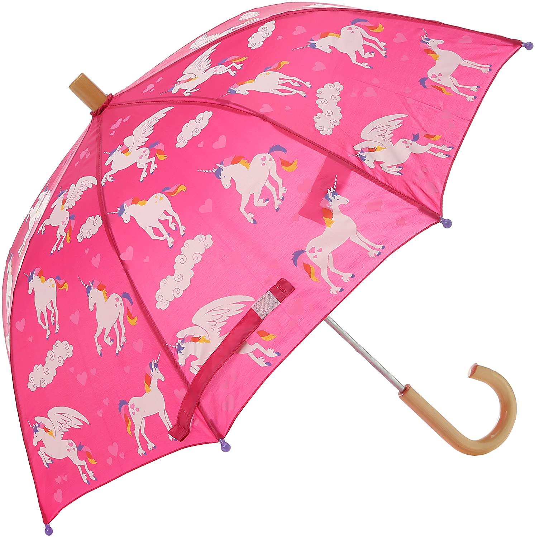 Hatley Girls Little Printed Umbrellas, Rainbow Unicorns, One Size