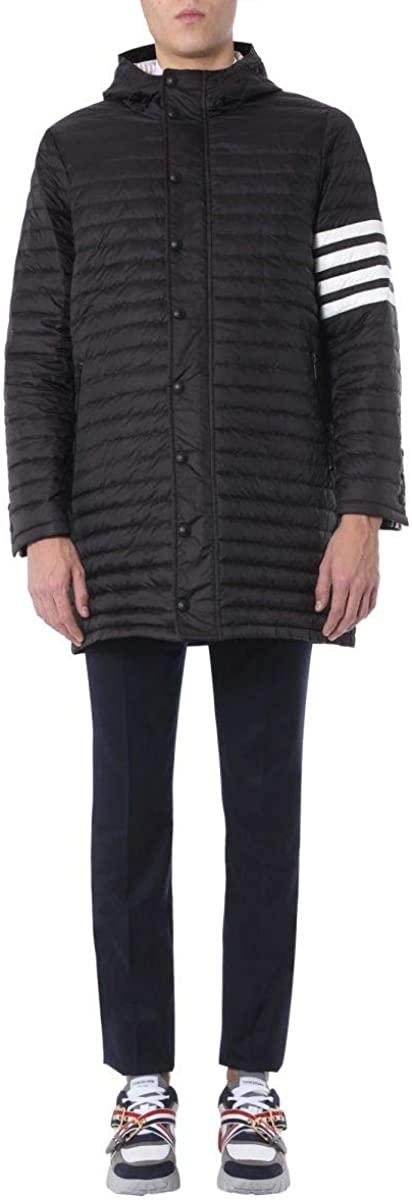 Thom Browne Luxury Fashion Man MOD013X05411001 Black Polyamide Down Jacket   Season Permanent