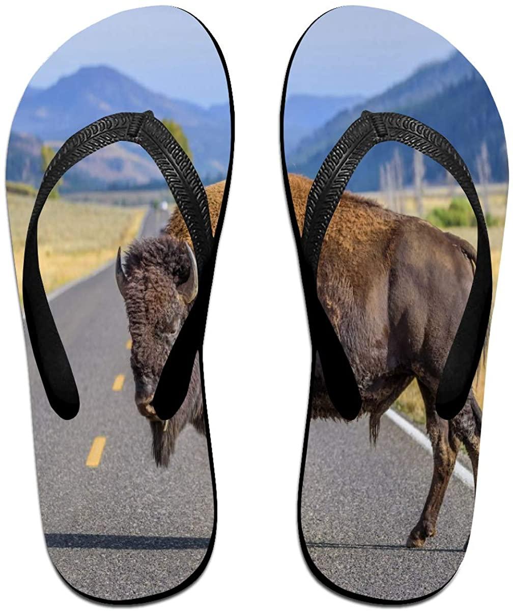 Mens Flip Flop Slippers A Big Bison Rubber Comfy Flip Flops Outdoor Beach Sandals