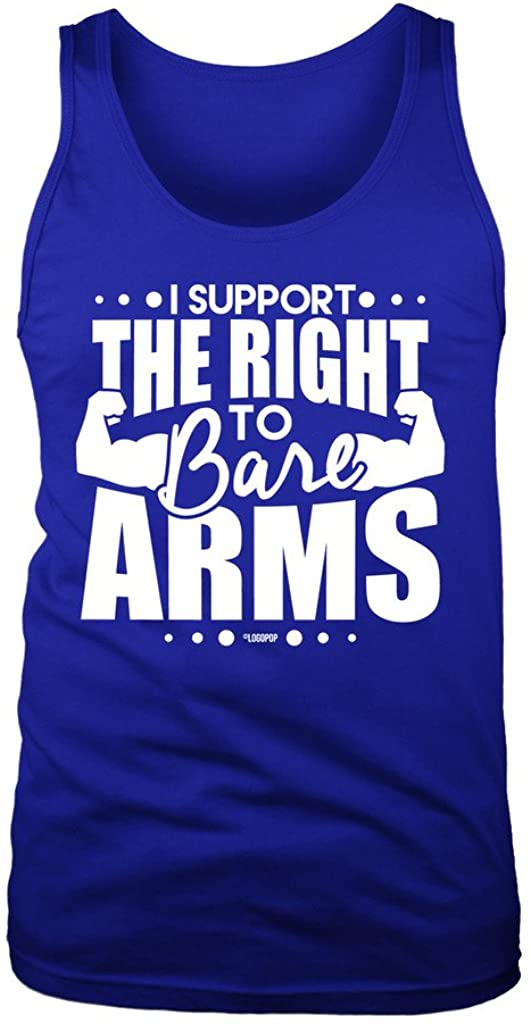 LOGOPOP Men's The Right to Bare Arms Tank Top