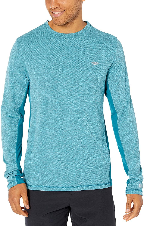 Speedo Mens Uv Swim Shirt Long Sleeve Longview Tee - Manufacturer Discontinued