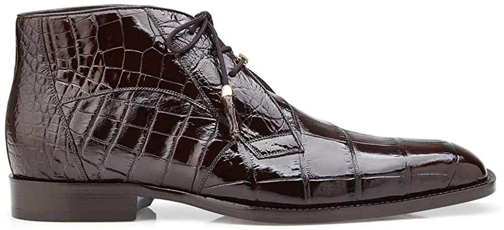 Belvedere Stefano Chocolate Genuine Alligator Ankle Boot