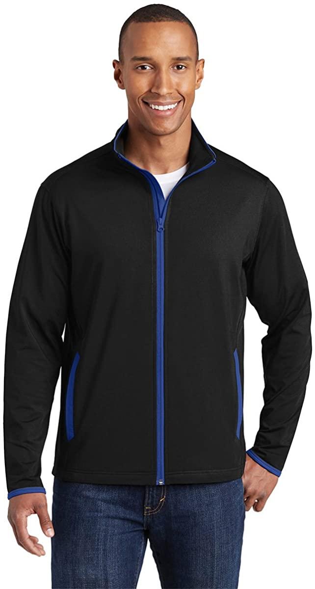 Sport-Tek Mens Sport-Wick Stretch Contrast Full-Zip Jacket (ST853)