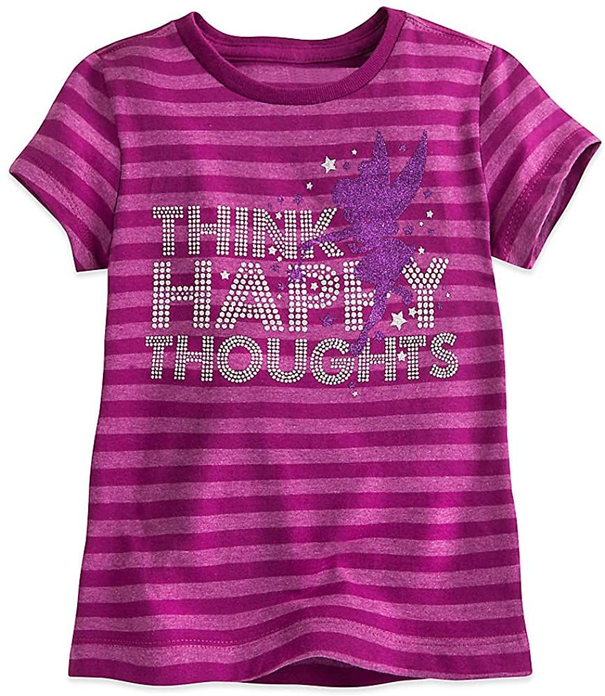 Disney Tinker Bell Striped Tee for Girls Purple