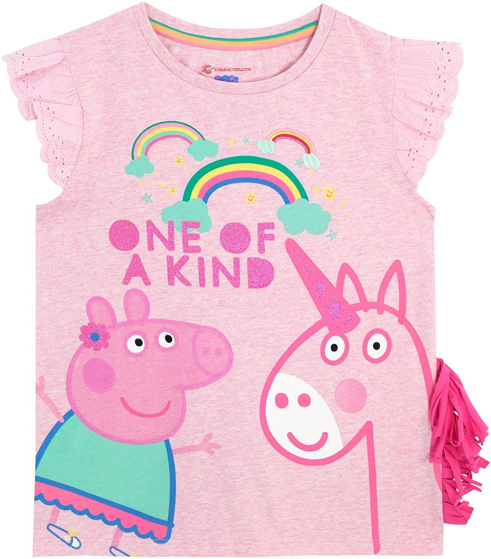Peppa Pig Girls' Peppa & Unicorn T-Shirt