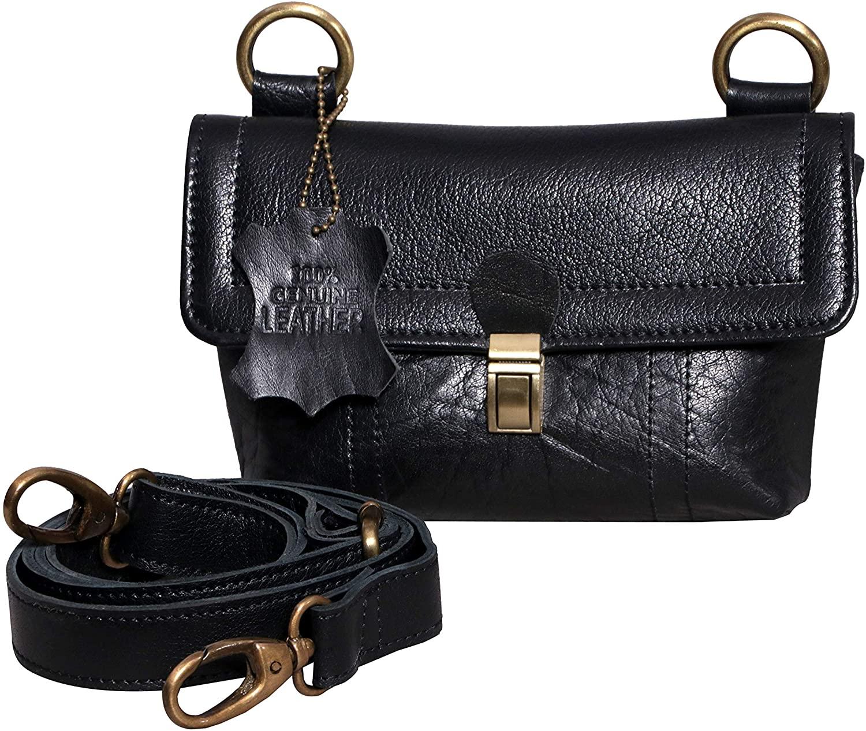 Spice Art Genuine Leather Fanny Pack for Women, Cross Body Bag cum Sling Bag, Waist Pack, Belt Bag, Bum Bag, Waist Bag for Running, Travel and Hiking