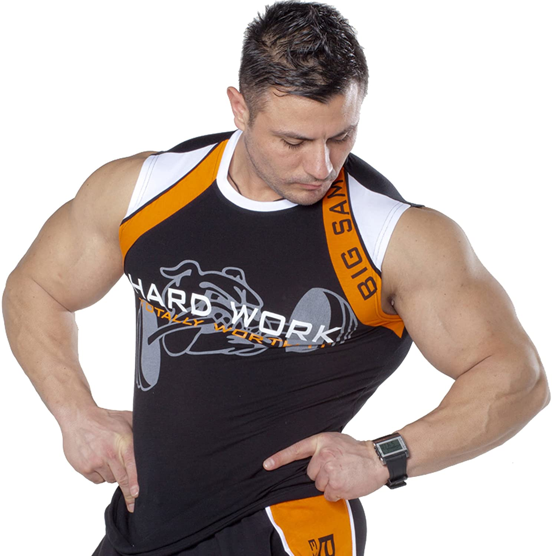 BIG SAM SPORTSWEAR COMPANY Bodybuilding Men's Muscleshirt Tanktop T-Back Tee Tank Stringer 2133