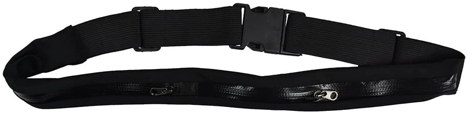 Double Zipper Waist Bag Reflective Sports Phone Holder Belt