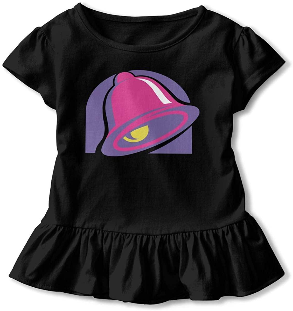 Taco Bell 2-6T Old Child Girls Baseball Ruffle Short Sleeve Cotton T Shirt Top