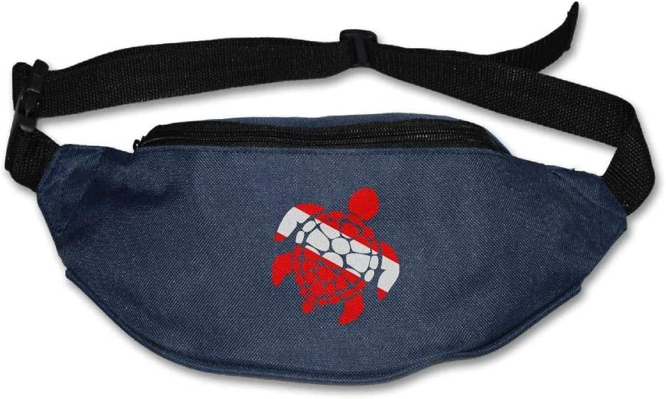 Fanny Bag Scuba Sea Turtle Unisex Fashion Waist Pack Bag with Adjustable Strap
