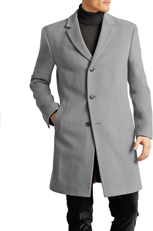 Tommy Hilfiger Men's All Weather Top Coat, Light Grey, 42S