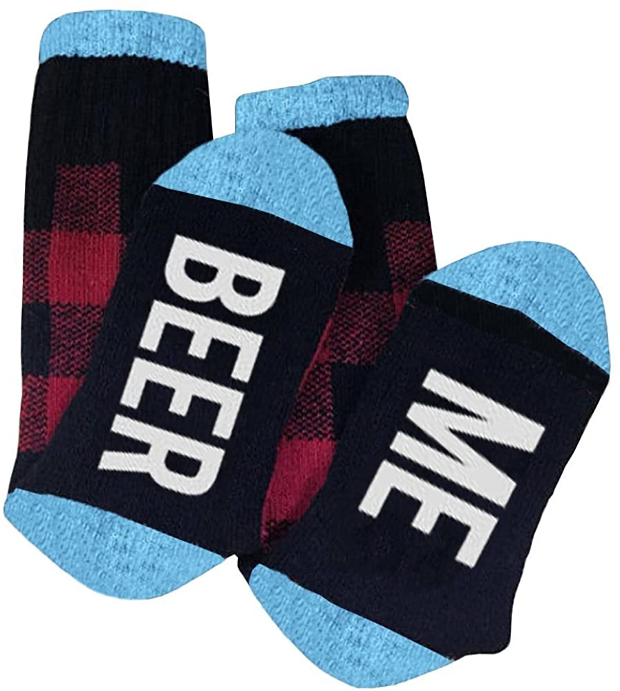 Unisex Funny Saying Socks Beer Me Graphic Women Mens Novelty Cotton Crew Sock