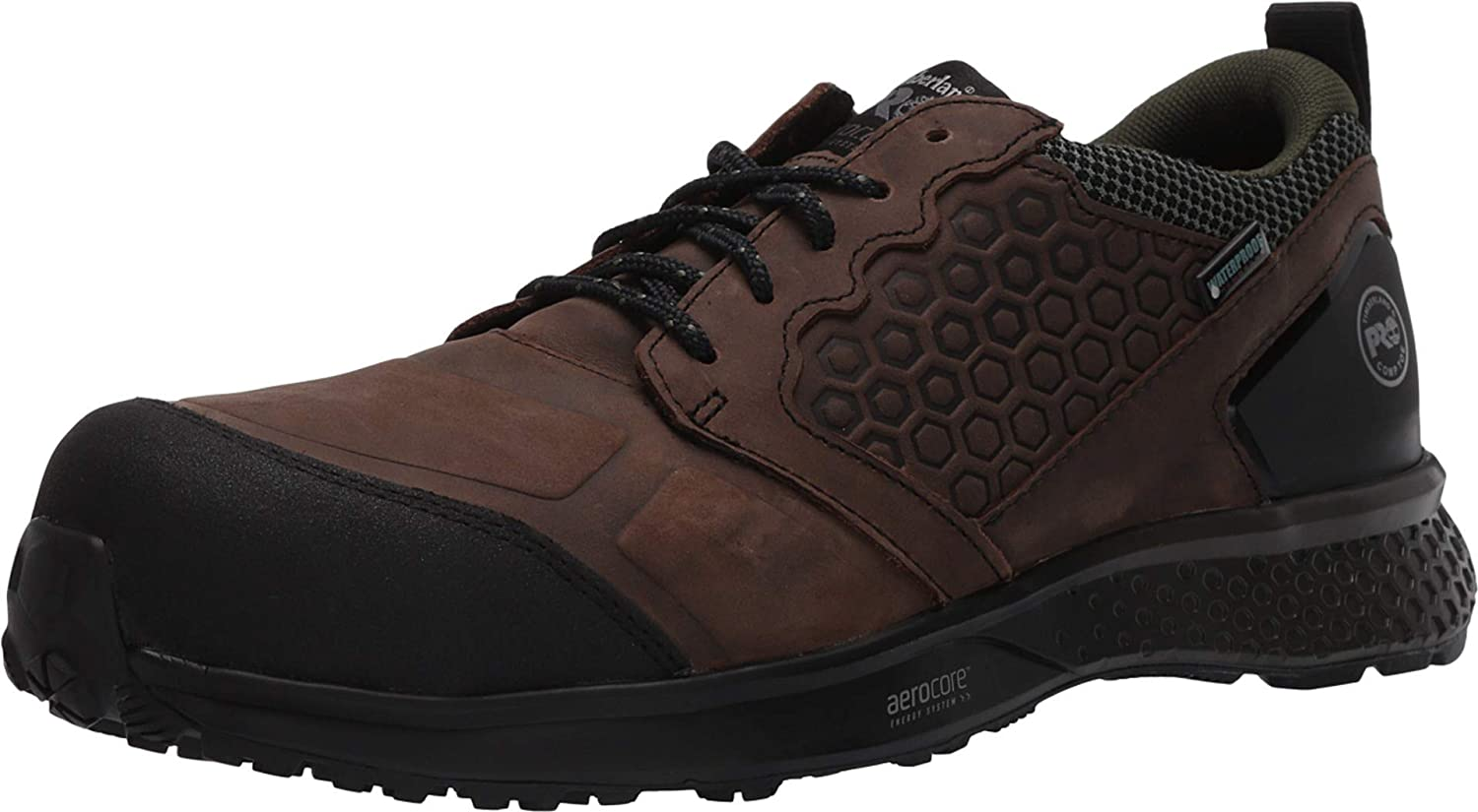 Timberland PRO Reaxion Composite Safety Toe Waterproof Brown/Green 8