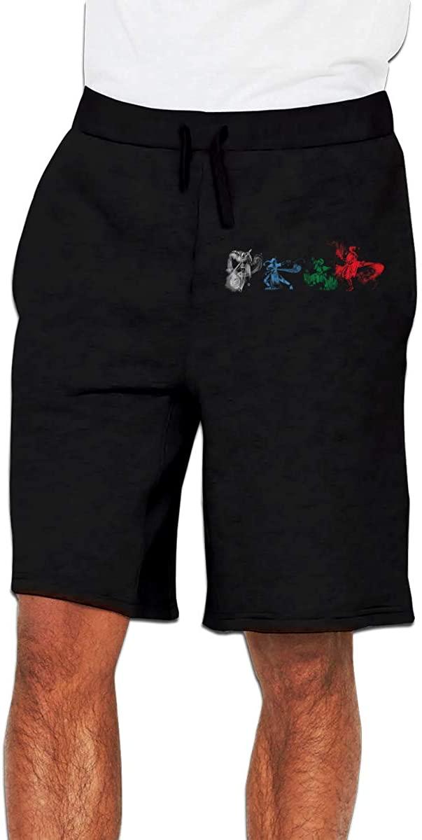 Avatar The Last Airbender Men's Shorts Casual Drawstring, Pocket-Elastic Waist