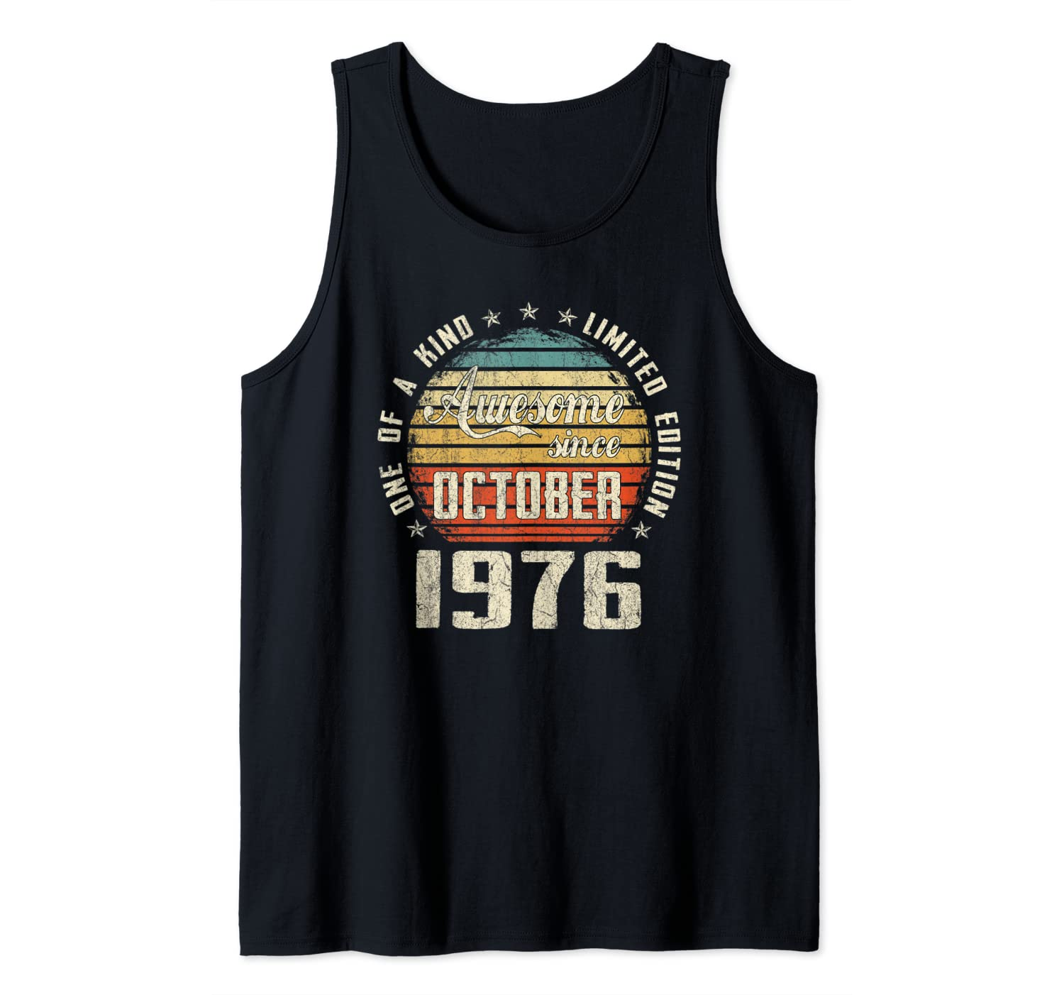 Vintage October 1976 Retro 44 Years Old 44th Birthday Gift Tank Top