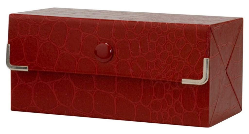 Travel Jewelry Cases with Mirror for Earings - Red, Crocodile Print, Set of 12
