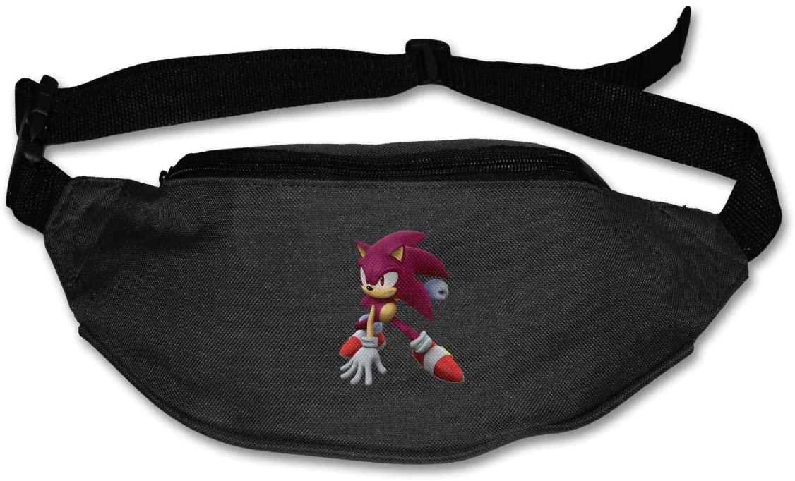 Ertregysrtg Sonic The Hedgehog Runner's Waist Pack Fashion Sport Bag