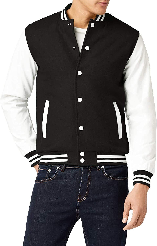 Urban Classics - Oldschool College Jacket black / white
