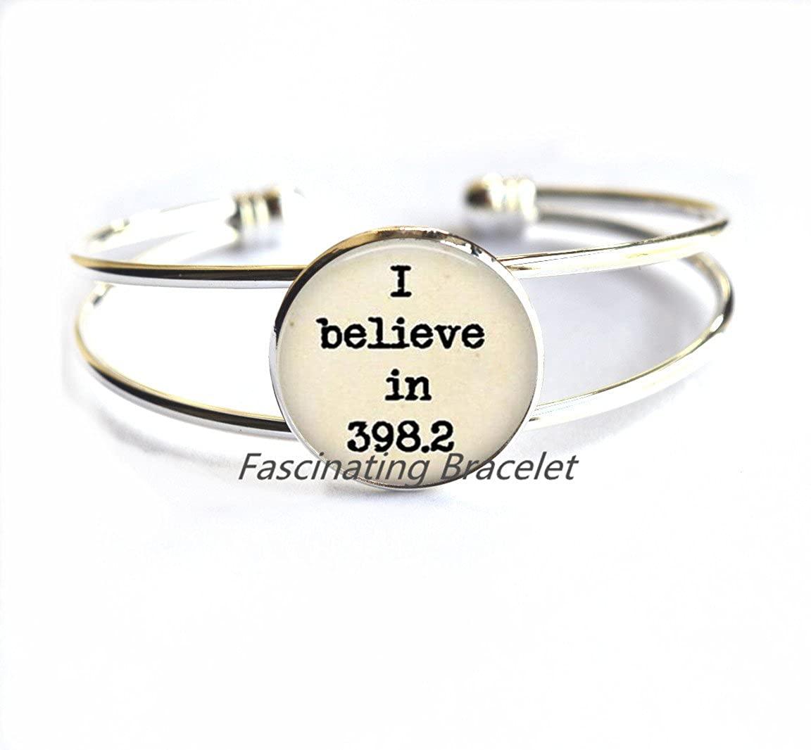 Fashion Bracelet,Literary Jewelry I Believe in 398.2 Bracelet Sayings Jewelry Quote Bracelet Bookish Jewelry,I still believe in 398.2 Bracelets, fairy tale jewelry book jewelry fairy tale wedding Deci