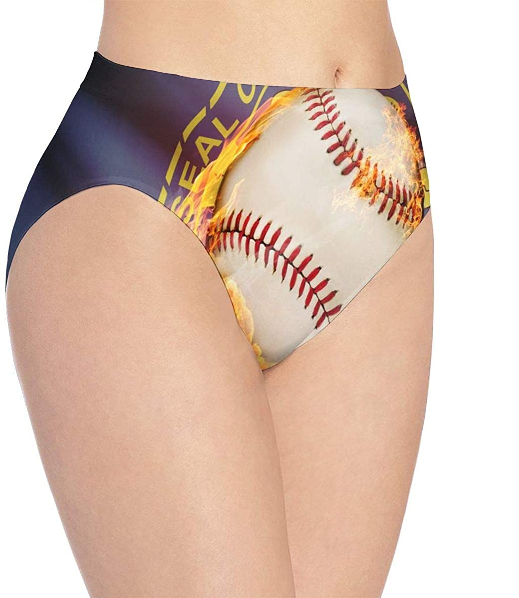 Womens Underwear Sports Baseball Nebraska Personalized Bikini Brief Hipster Panties Panty Ladies