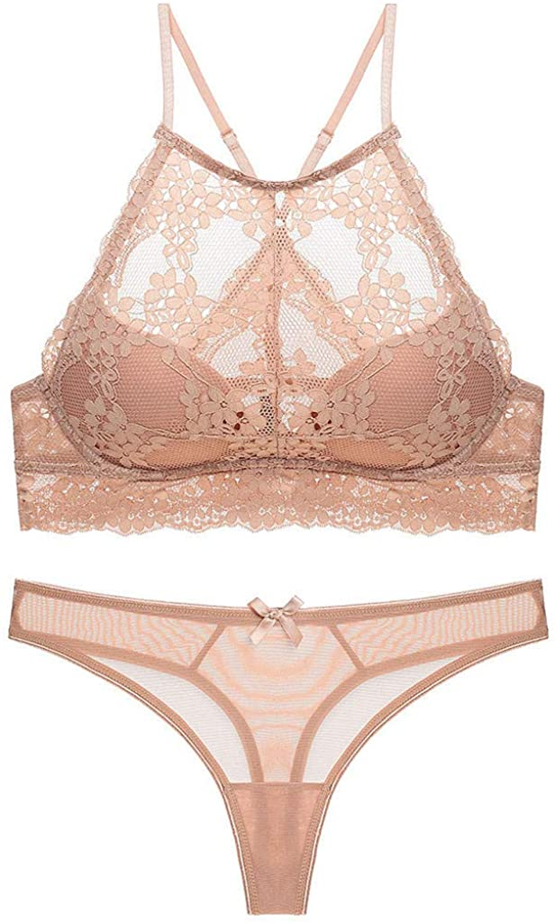 Golike Lingerie for Women Lace Lingerie Sets Sexy Floral Lace Bra Female Underwire Lingerie Bras Underwear Set
