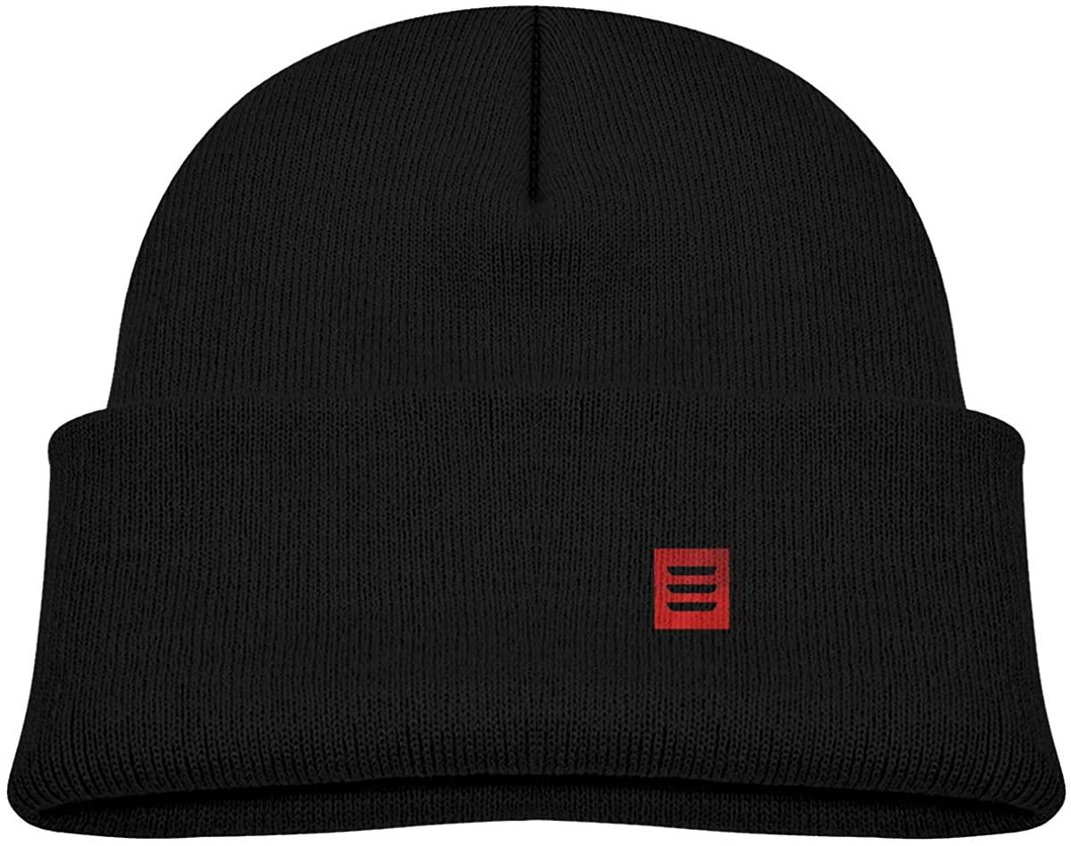 Tesla Model 3 Red Logo Toddler's Hats Winter Knit Beanie Cap Children Knitted Hat