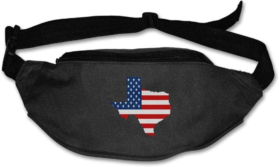 Eden Edies Texas State Map Shape The USA Flag Unisex Waist Pack Bag Belt