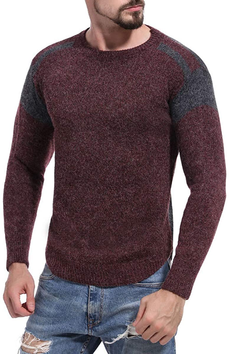 Mens Brand Pullover Knitted Jersey Striped Sweaters Knitwear Clothes