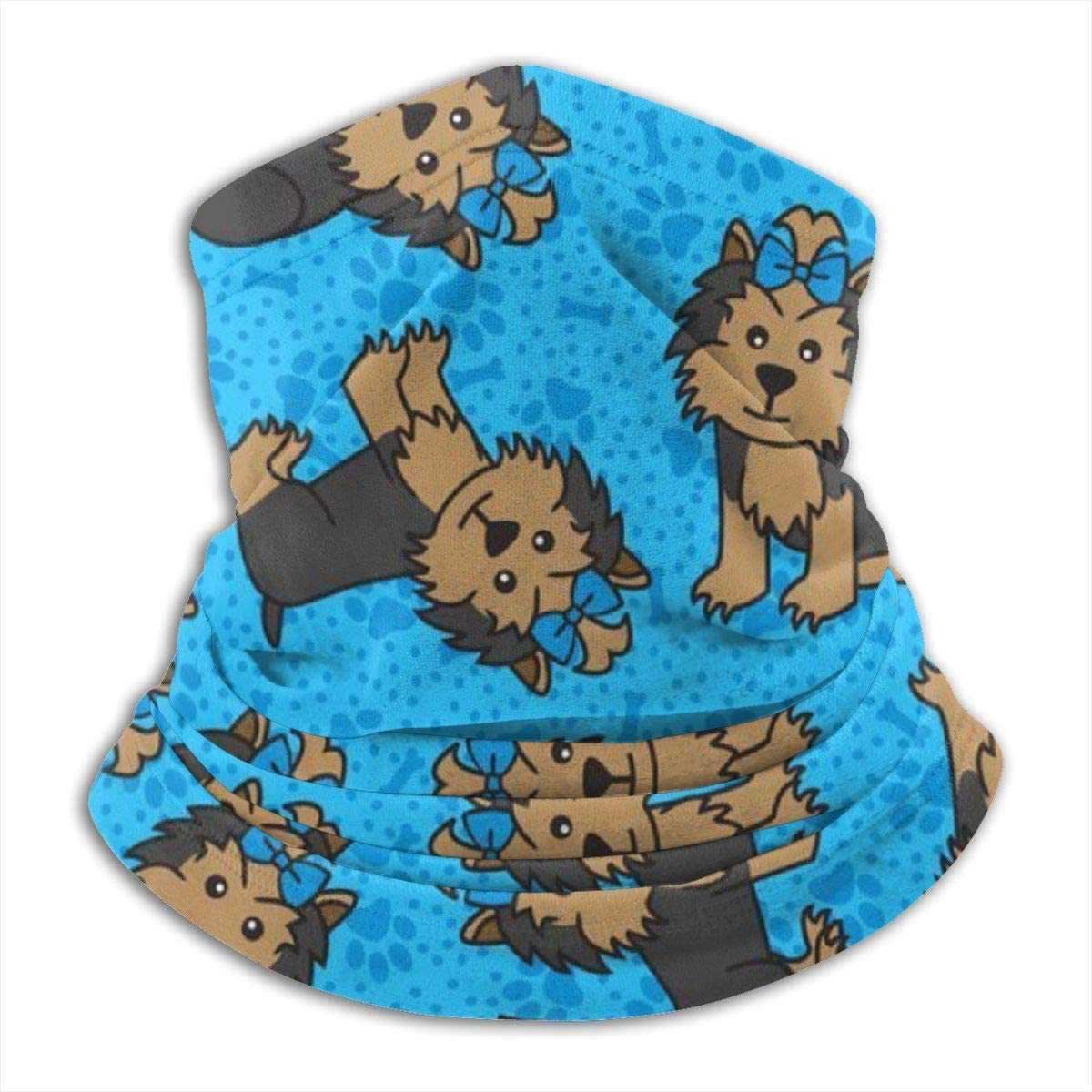 antfeagor Yorkie Party Dog Valentine 2020 for Women Men Dust Wind Sun Protection Seamless Bandana Face for Rave Festival Outdoor Running Tube Multifunctional Headwear