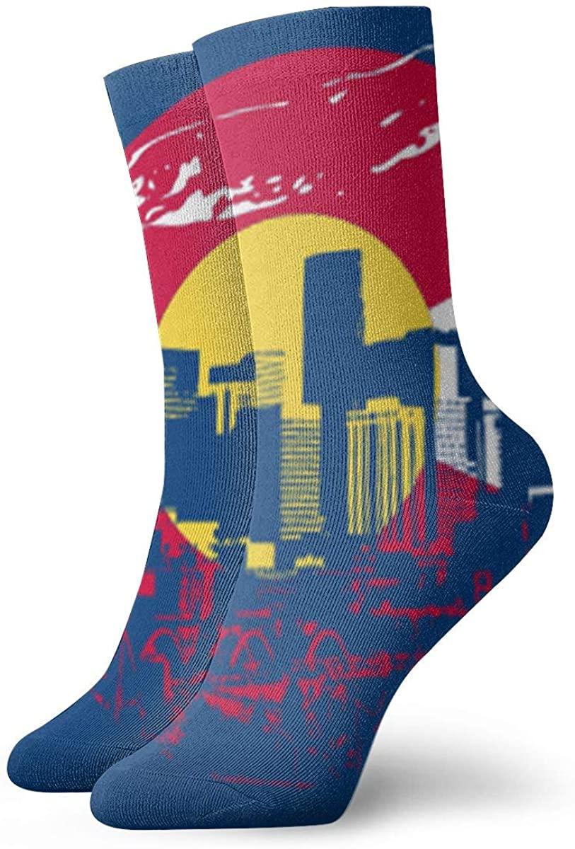 Game Life Crew Socks Colorado State Flag Men Women Sock Casual Socks