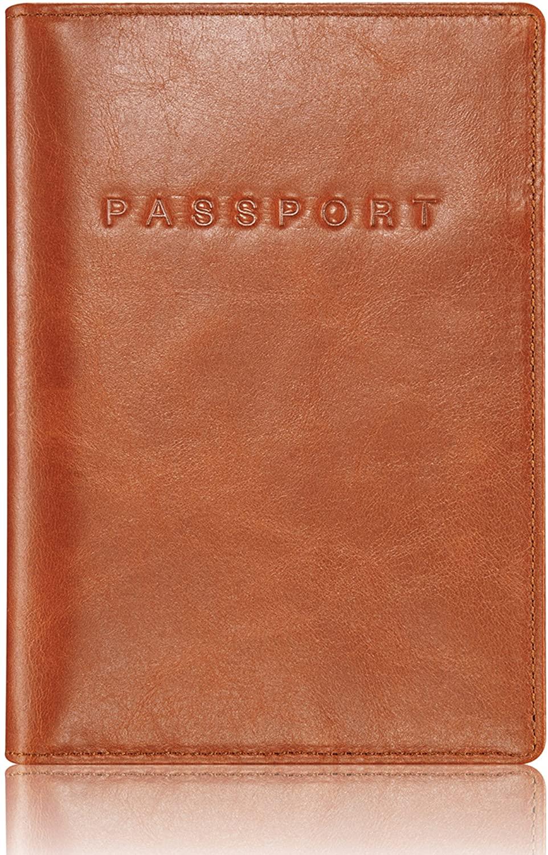 KAVAJ Leather Passport Holder Case