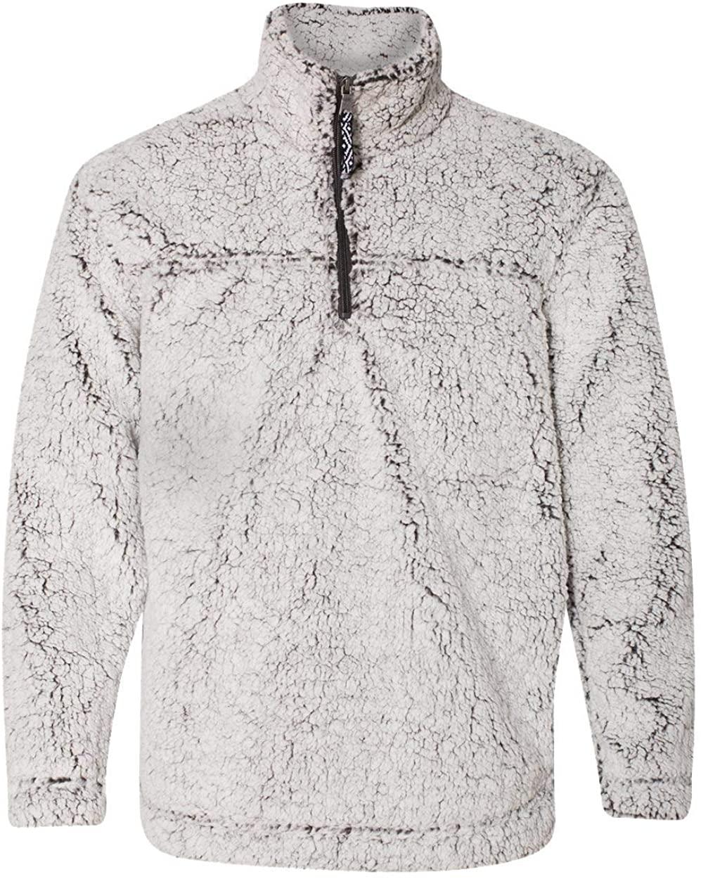 CAVU Frosty Grey Unisex Sherpa Fleece Quarter-Zip Pullover