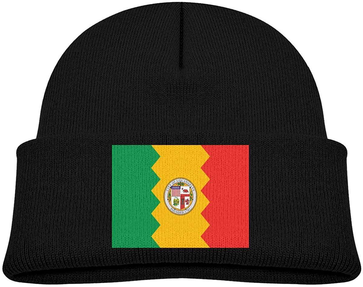 ZWZ Los Angeles City Flag California Toddler's Hats Winter Knit Beanie Cap Skull Cap