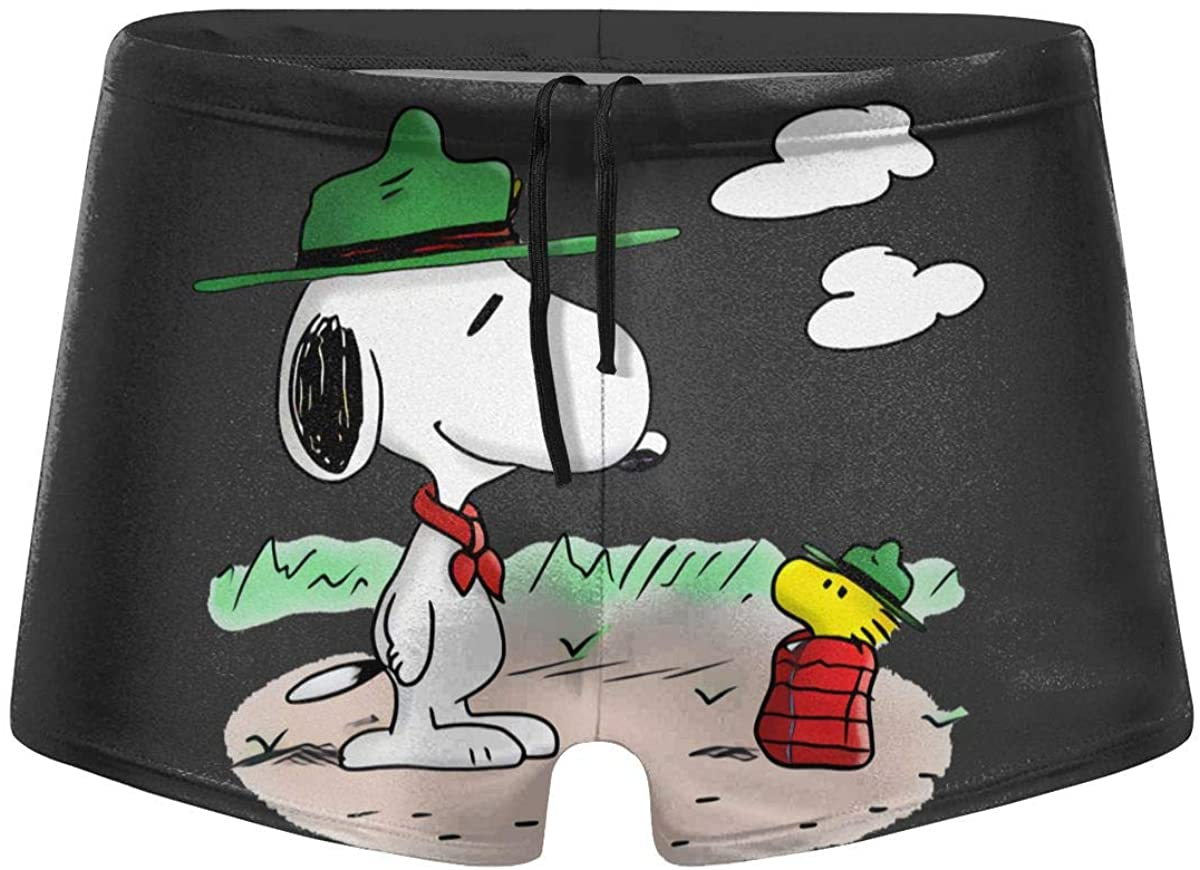Fulu Green Hat Dog Men's Comfortable Breathable Quick-Drying Swimsuit Swimming Shorts