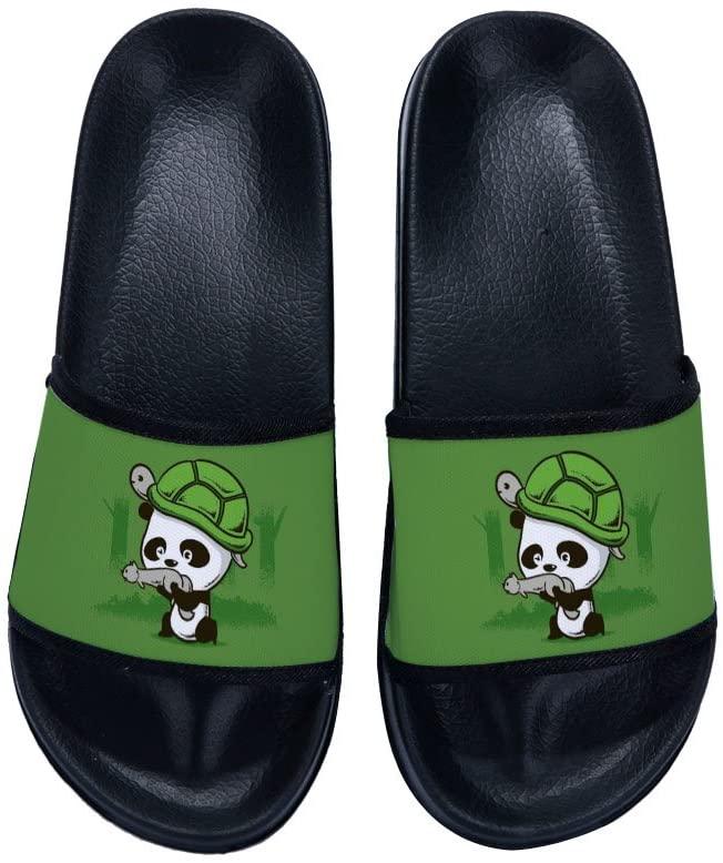 Wilbur Gold Slide Sandals for Mens Comfortable Soft Sole Shower Slipper with Panda