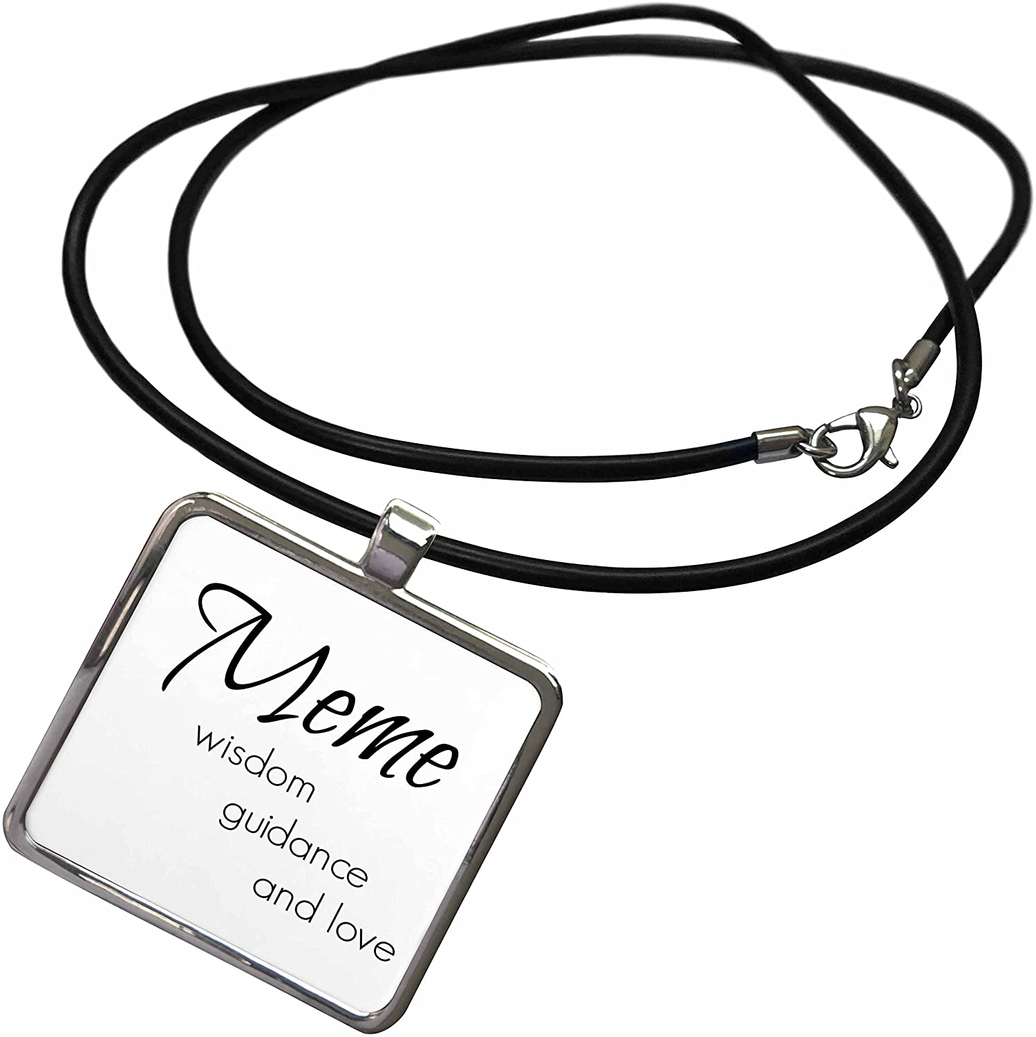3dRose BrooklynMeme Sayings - Meme Wisdom, Guidance, Love - Necklace with Rectangle Pendant (ncl_253732)