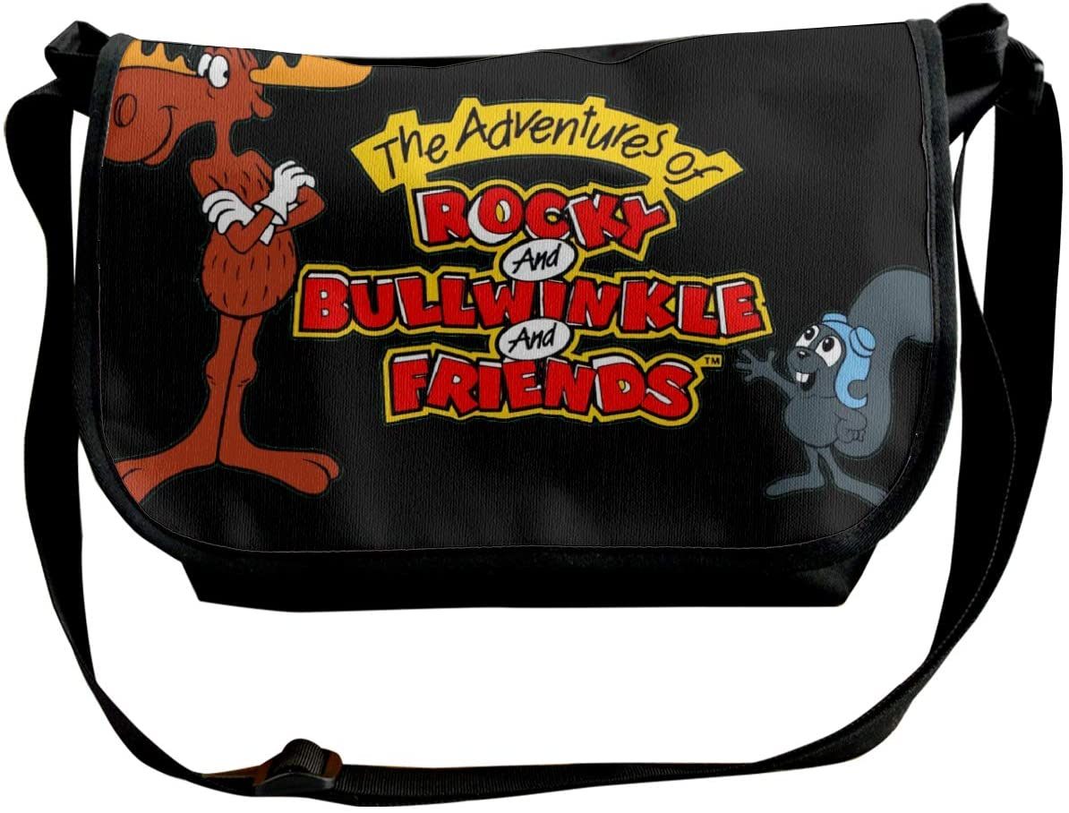 The Adventures of Rocky and Bullwinkle and Friends Outdoor Fanny Pack Tactical Waist Pack Single Shoulder Bag Multiple Combinations Traveling Running Hiking Cycling