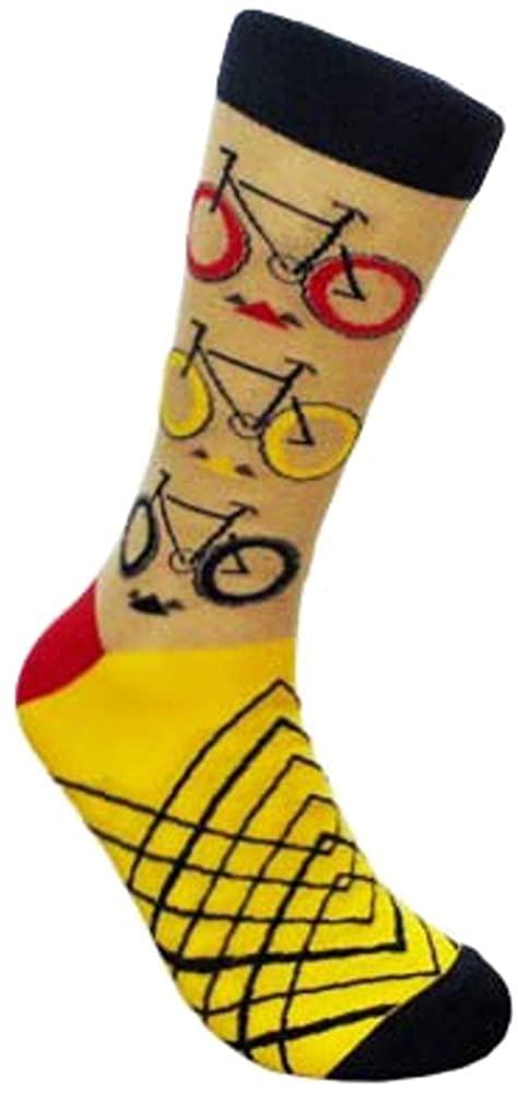 Mens Urban Hipster The City Rider Bicycle Bike Sports Novelty Crew Dress Socks