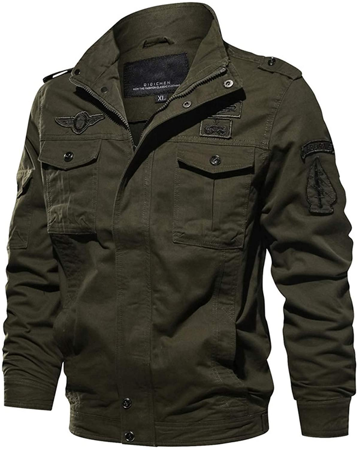 Men Tactical Military Autumn Air Force Style Pilot Bomber Jacket Winter Casual Embroidery Cotton Army Coat
