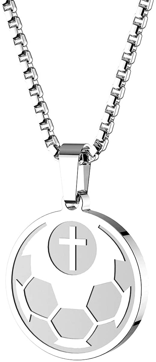 HOFOYA Sports Athletes Pendant Necklace with Inspiring Bible Quote from Phil 4:13 Baseball Basketball Football Soccer Volleyball The Gift Suitable for women men boys and girls who love sports coach or teammate gift.