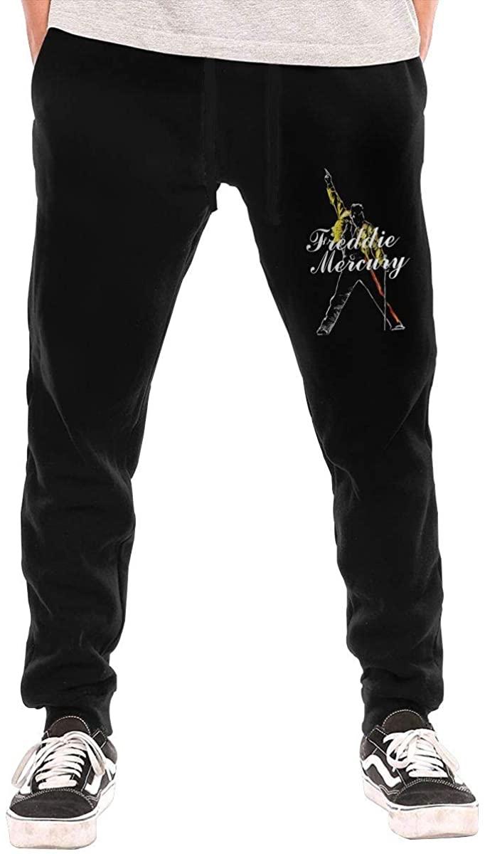 Qq6-earn-store Freddie Mercury Men's Workout Activewear Long Pants Sweatpants for Men