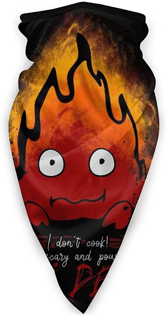 Fire Demon Calcifer Howls Moving Castle Face Mask Bandanas For Dust, Outdoors, Festivals, Sports