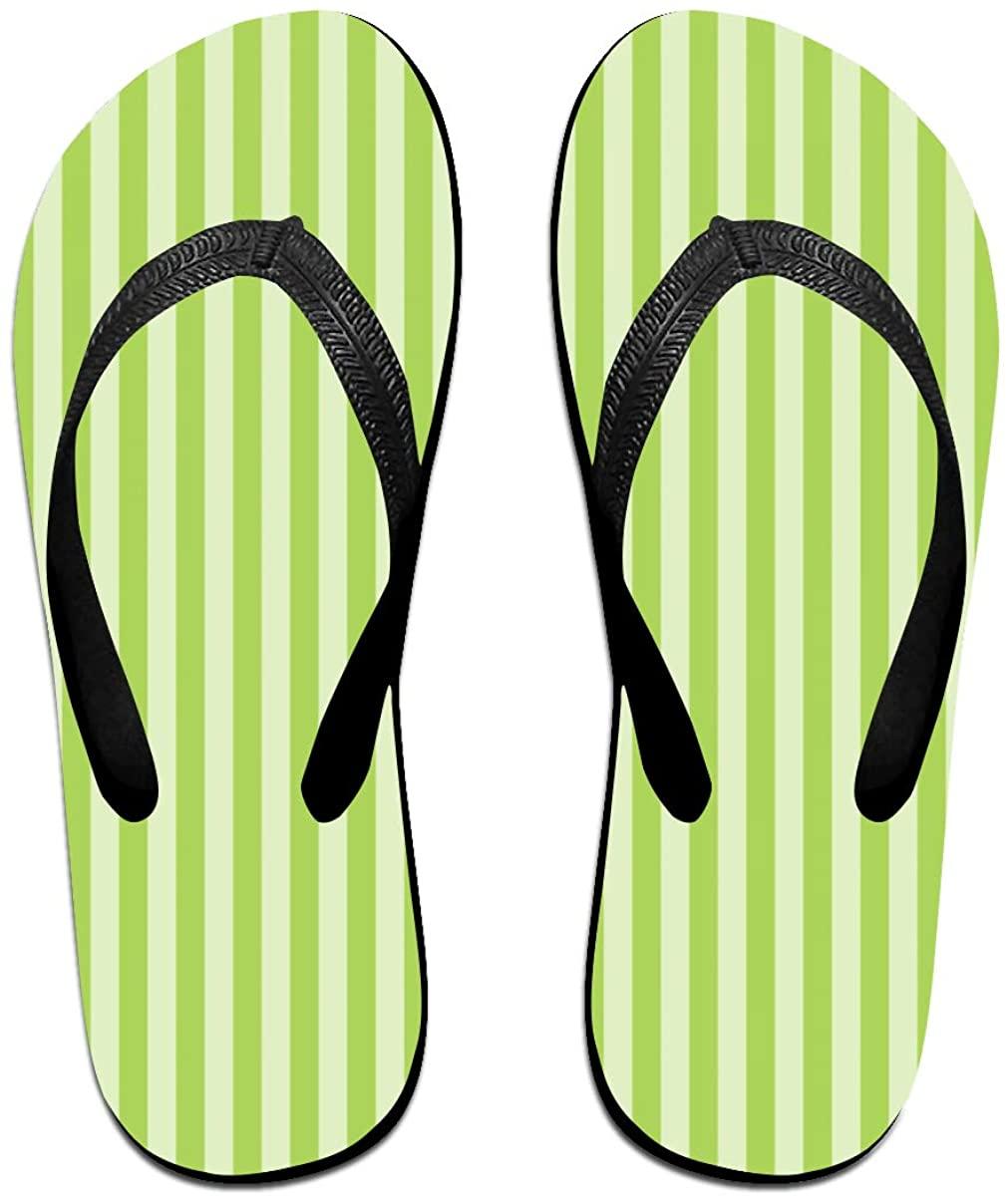 TJNMU Black White Stripes Flip Flops Printing Sandals Fashion Beach Slippers-4