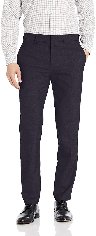 J.M. Haggar Men's Premium Stria Slim Fit Suit Separate Pant, Dark Navy, 33Wx32L