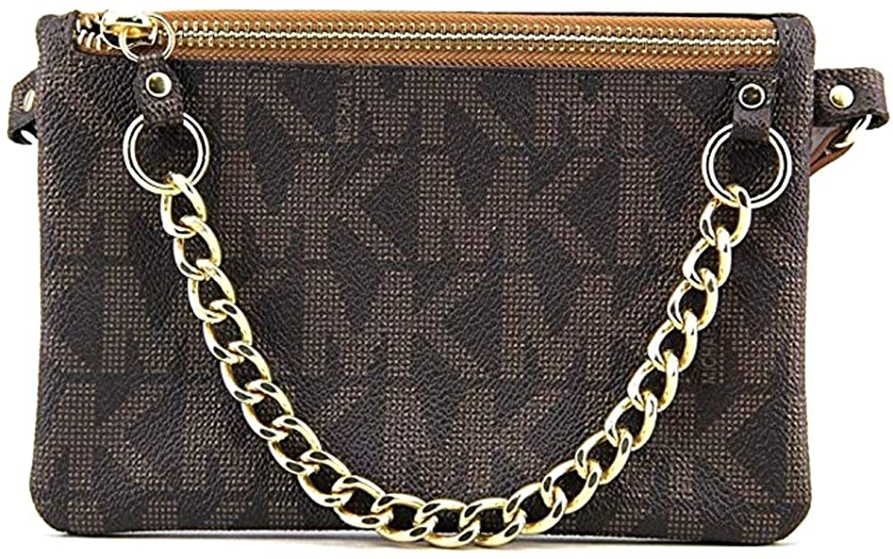 Michael Kors Brown MK Signature Fanny Pack Belt Bag