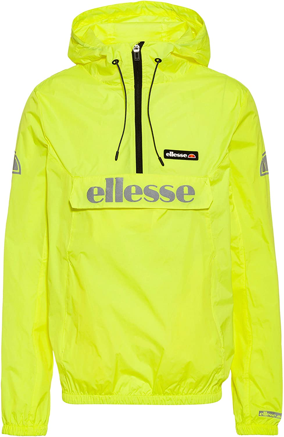 ellesse Berto OH Rain Jacket in Neon Yellow Large