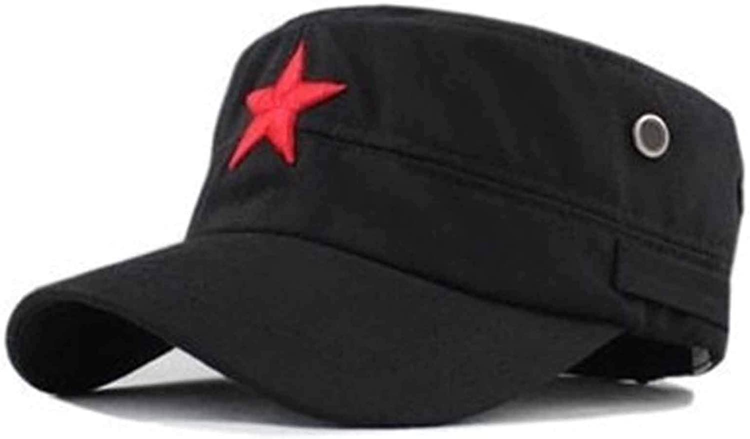 New Vintage Unisex Women Men Baseball Cap Fabric Adjustable Red Star Outdoor Sun Casual Army Hat
